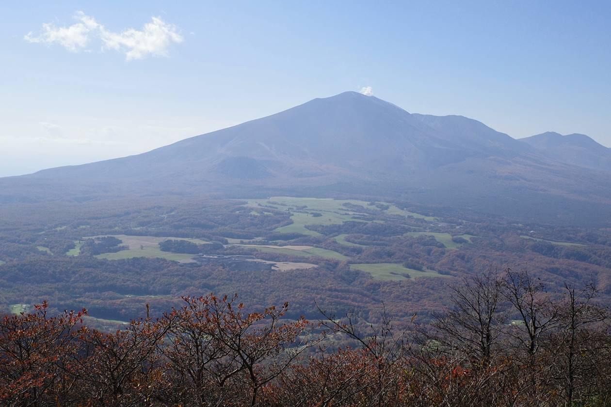 浅間山と浅間牧場