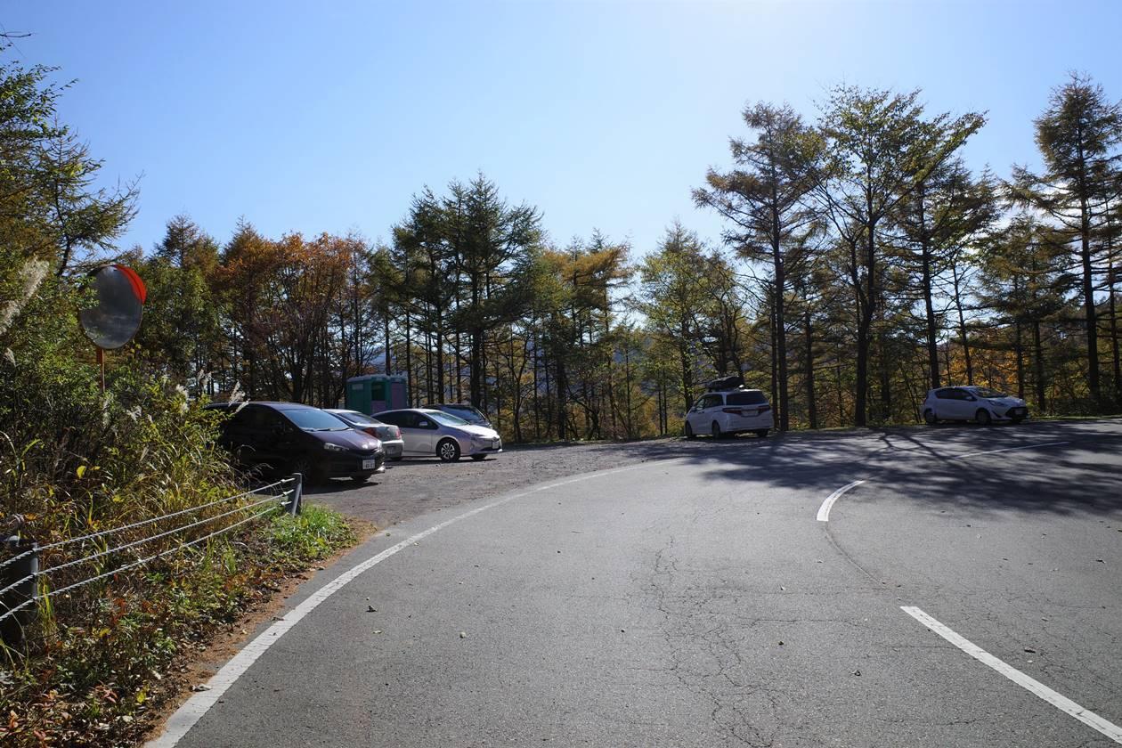 二度上峠登山口駐車場