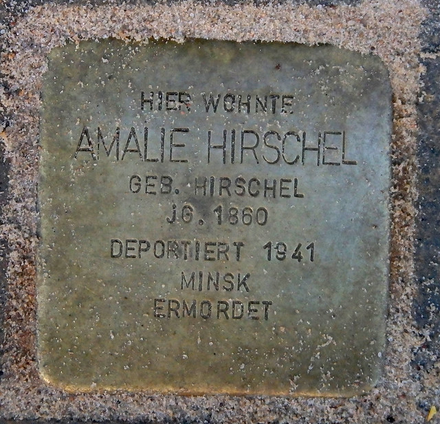 AMALIE HIRSCHEL (GEBORENE HIRSCHEL) * 1860 Isestraße 98 (Eimsbüttel, Harvestehude)