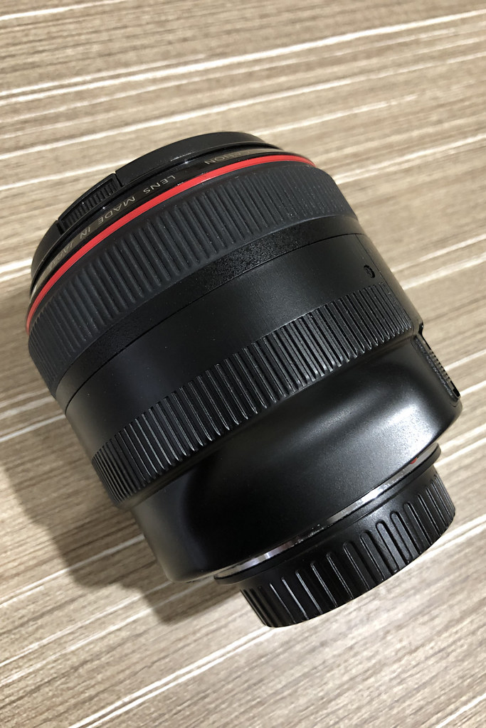 Canon EF 85mm f/1.2L II USM - After Removal of Rubber Coating