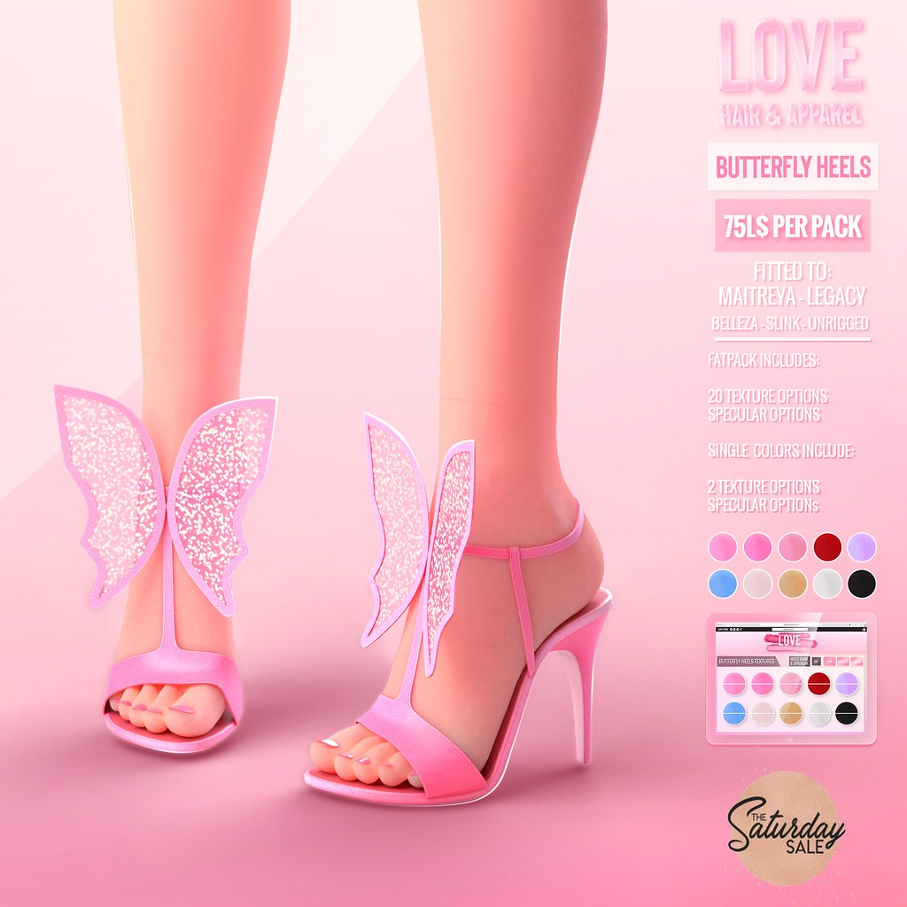 Love [Butterfly Heels] @ The Main Store – The Sat Sale