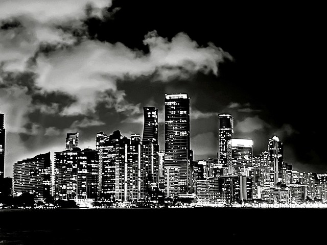 Downtown Miami, FL. USA - B/W
