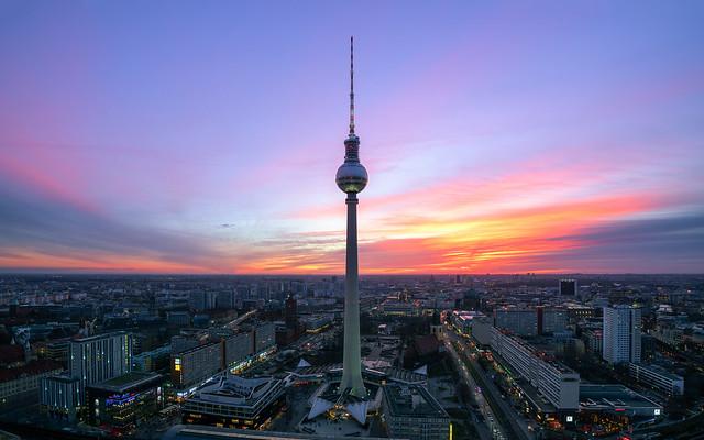 Berlin / Alexanderplatz - Sunset
