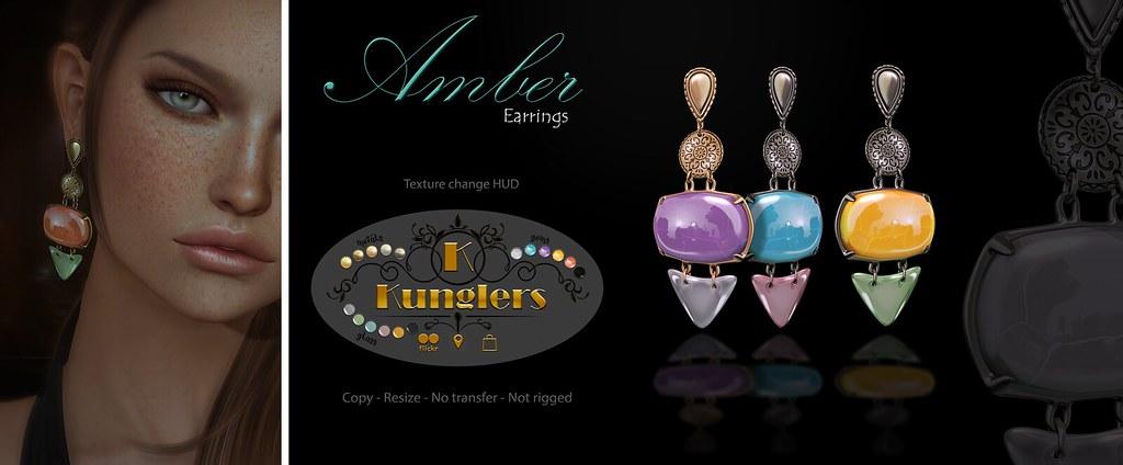 KUNGLERS – Amber earrings