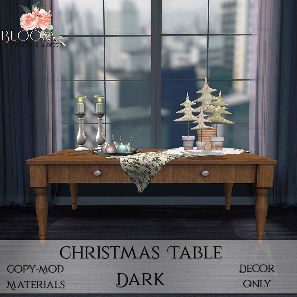 Bloom! – Christmas Table DarkAD