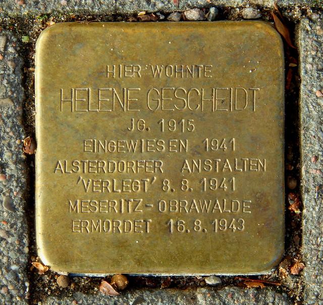 HELENE GESCHEIDT * 1915 Dithmarscher Straße 26 (Hamburg-Nord, Dulsberg)