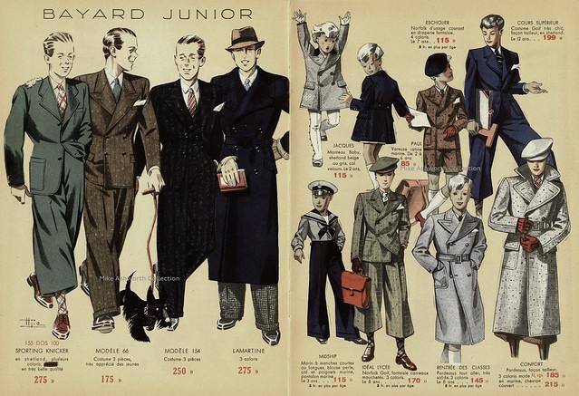 Bayard Vêtements, Grenoble - publicity brochure, nd [c1935] - illustrations by Marcel Hemjic.