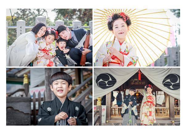 針綱神社で七五三 2020年秋 兄弟そろって 白い和傘