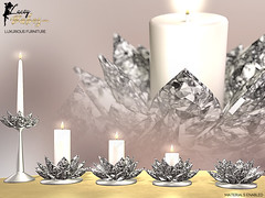 Lia Crystal Dining Candles Set