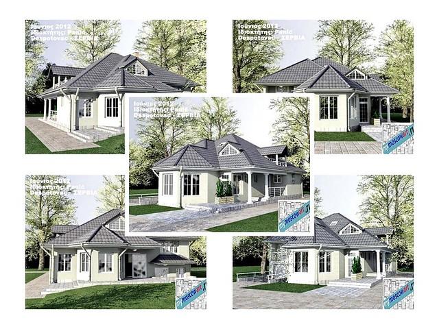 Проекты домов и коттеджей из кирпича двухэтажный