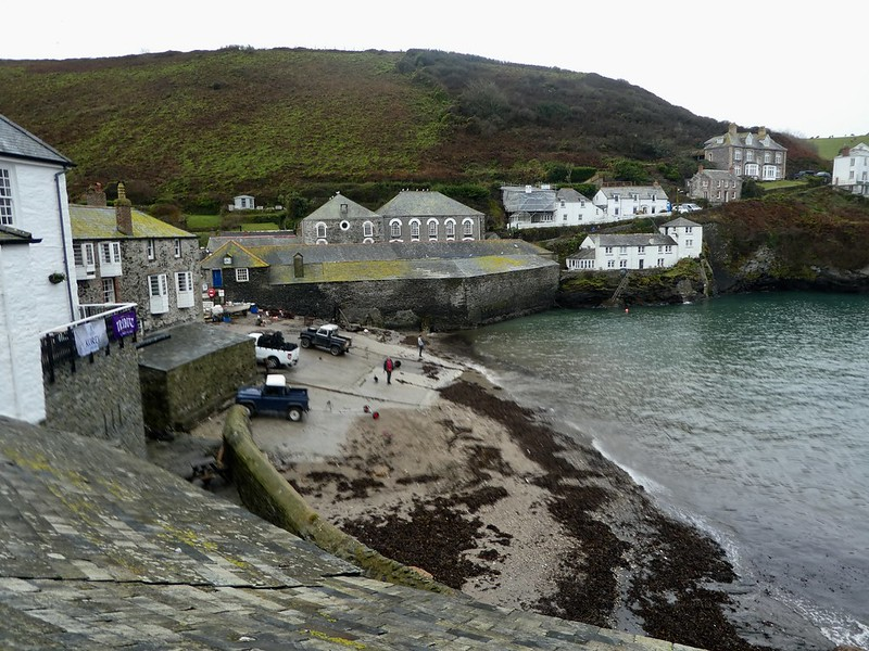 View of Doc Martin's surgery from Port Isaac harbour