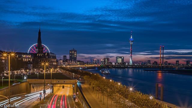 Dusseldorf Skyline at Night