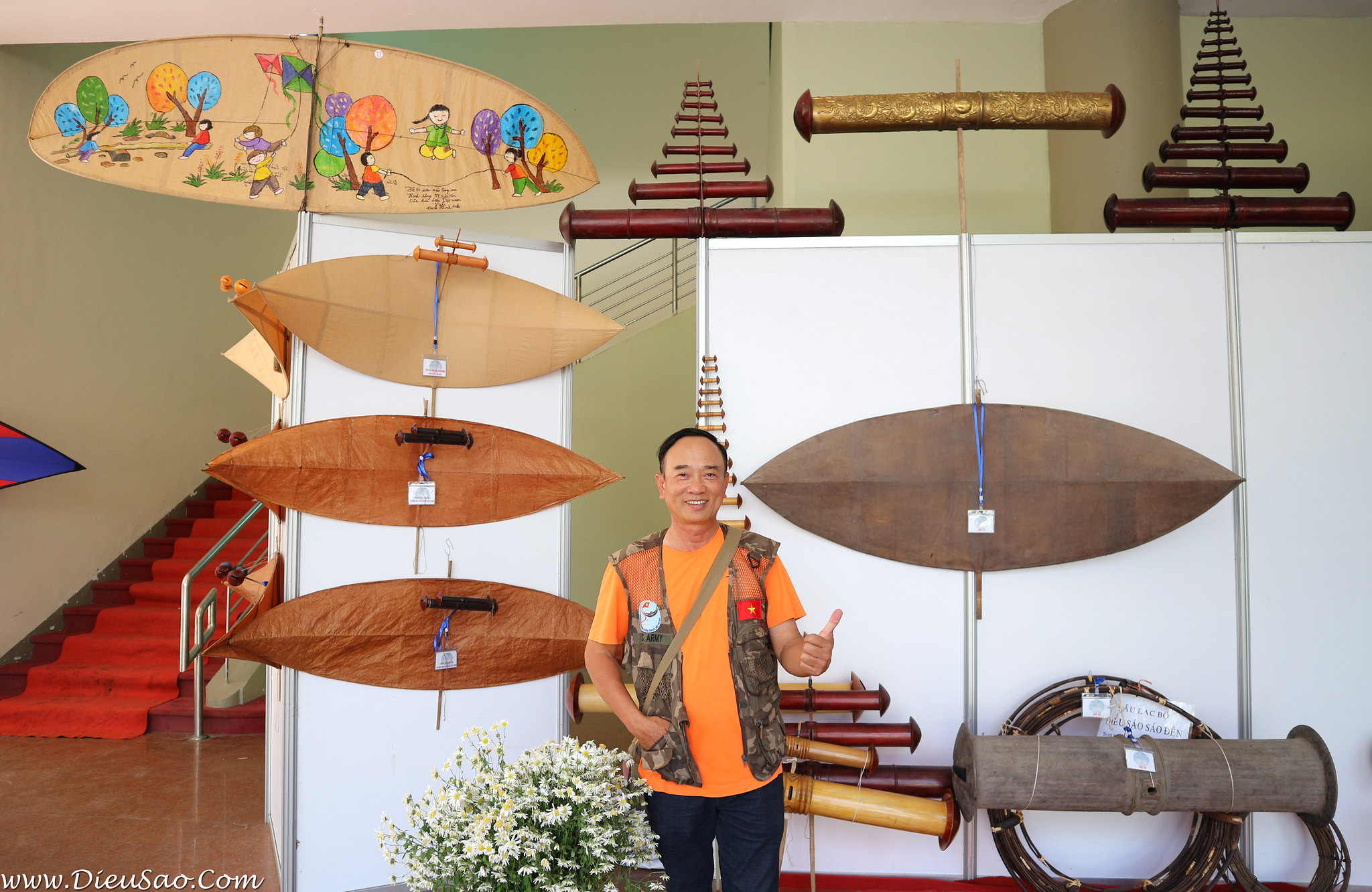 Ong Hoang Van Diep - Giam doc Trung tam Bao ton Van hoa Dieu Viet Nam