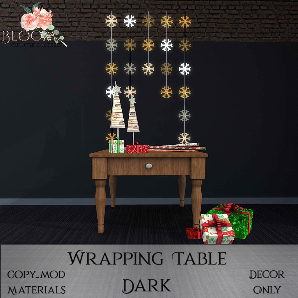Bloom! – Wrapping Table DarkAD