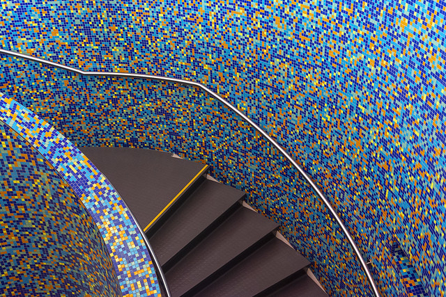 Staircase with mosaic