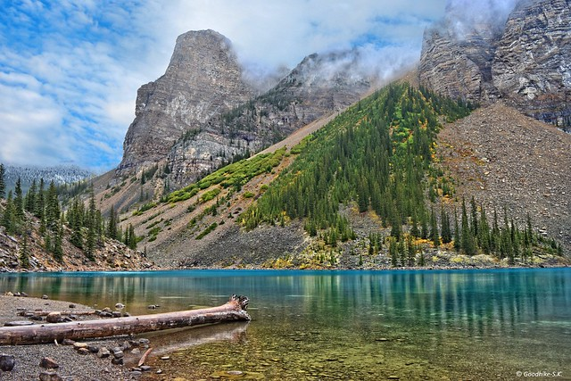 Natural Art Work, Moraine Lake in Banff National Park, Canada