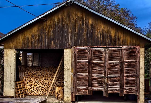 Old barn in Lika County, Croatia