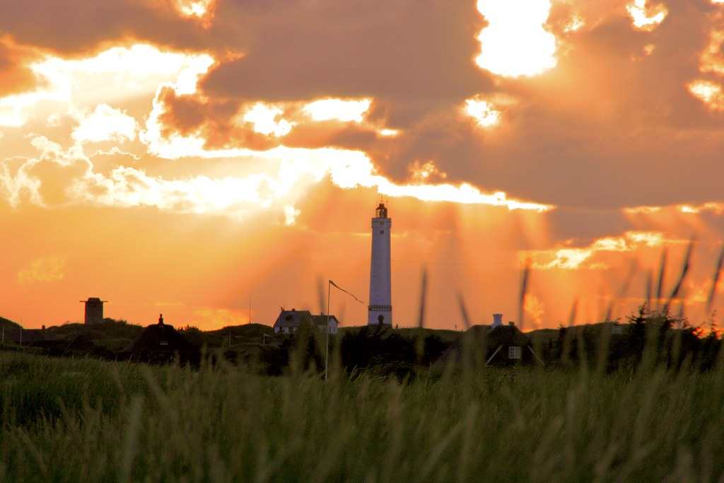 Burning lights - Blavand lighthouse