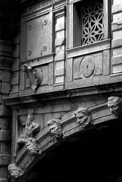 Detail of the Bridge of Sighs