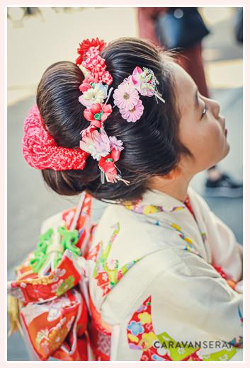7歳の七五三 ヘアスタイル:日本髪