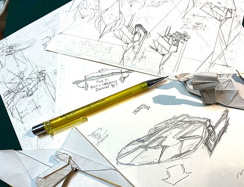 Drafting the LAST PAGE of the diagram of U.S.S. Reliant origami | by Shu Sugamata