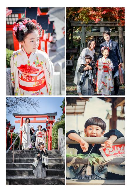 針綱神社・三光稲荷神社で兄弟で七五三 家族写真