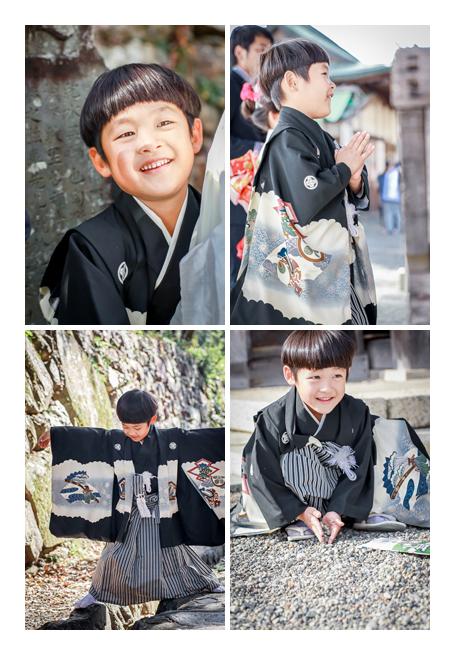 針綱神社で七五三 5才の男の子 愛知県犬山市