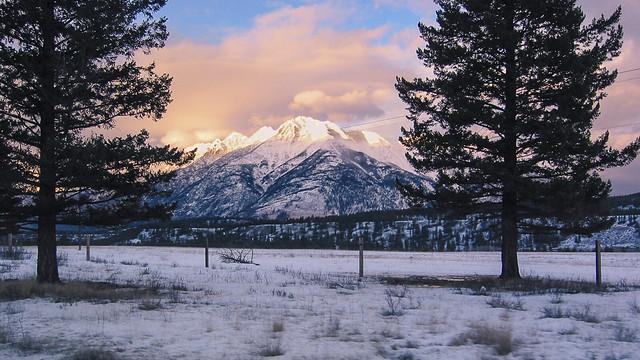 Sunset on the Rockies Near Kimberly BC