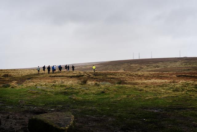 Fell Runners, Winter Hill, Lancashire