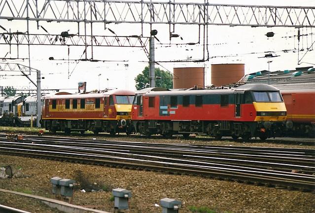 90019 90020 Crewe Diesel Depot