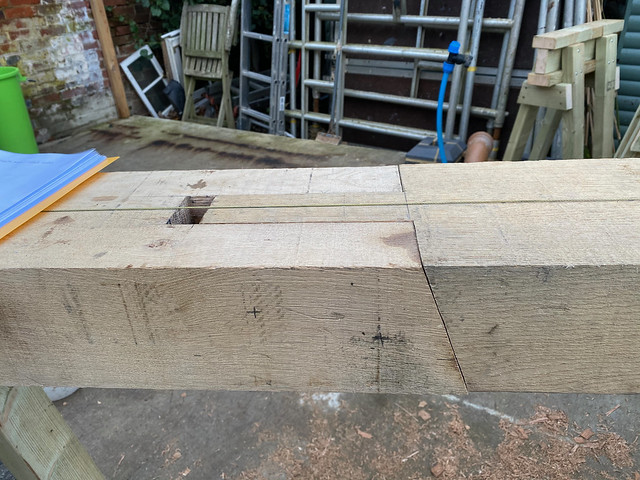 Scarf joint from side