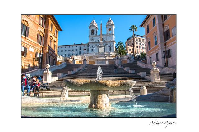 Roma, la scalinata di Trinità dei Monti