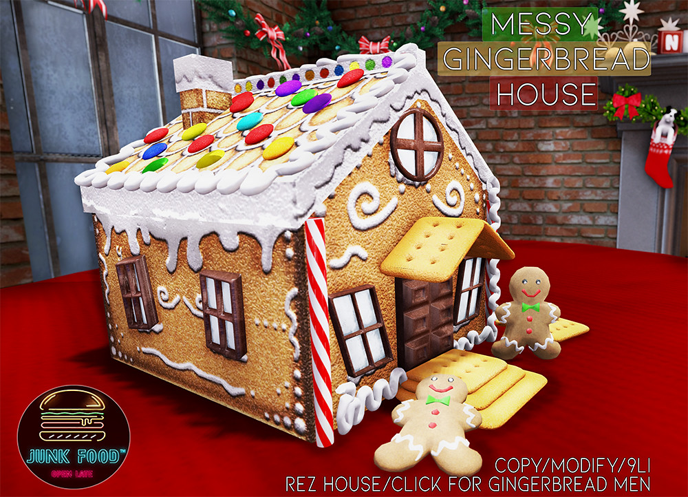 Junk Food – Messy Gingerbread House SL