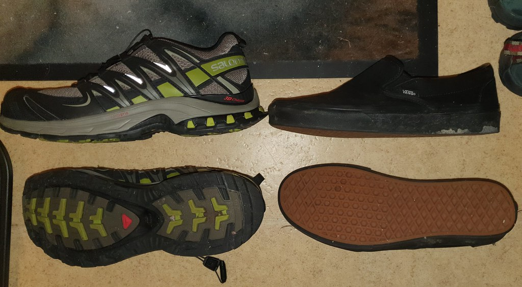 These pedals allow use of different shoes.