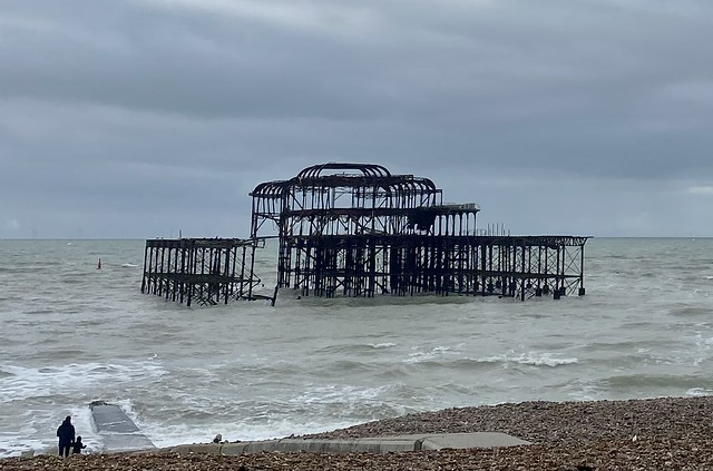 Old Brighton Pier standing up to the weather