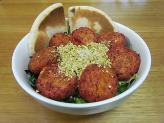 Beetroot Falafel, Dukkah and Mint Salad
