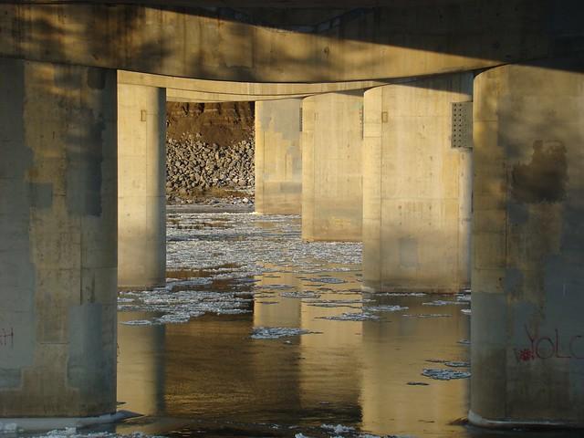 gold under bridge