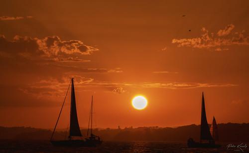 sunset lakemacquarie australia