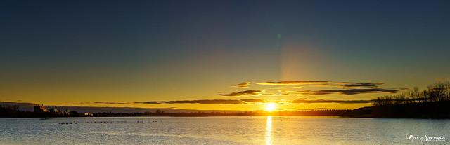 Panorama de coucher de soleil