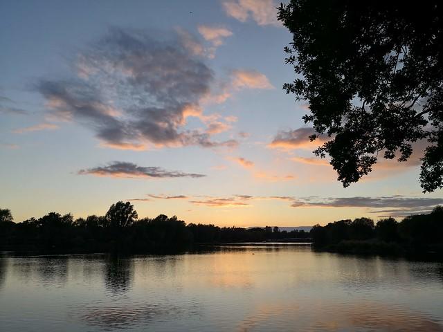 Stanborough Lakes at sunset