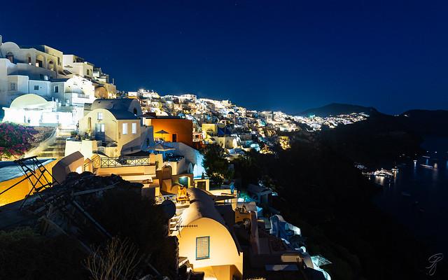 An evening view of Santorini (explored)