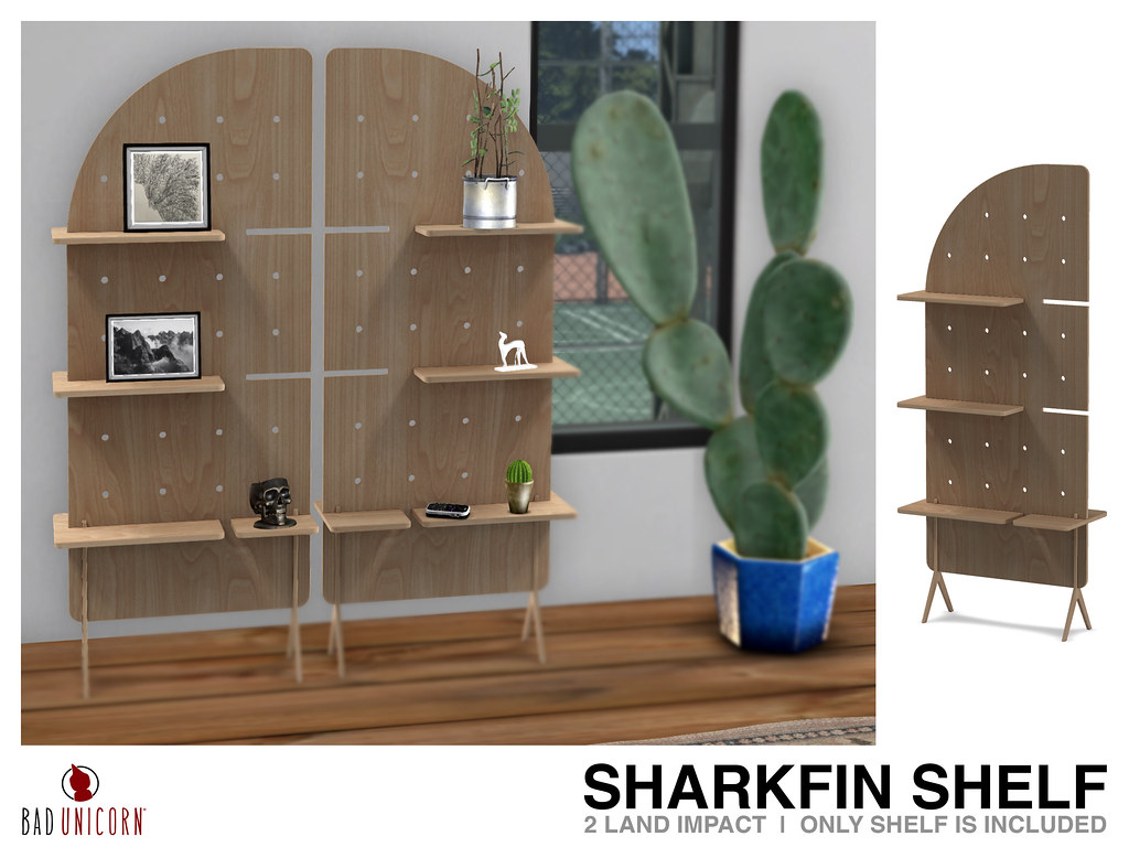 NEW! Sharkfin Shelf @ Bad Unicorn Mainstore (ONLY 50L – Limited Time)