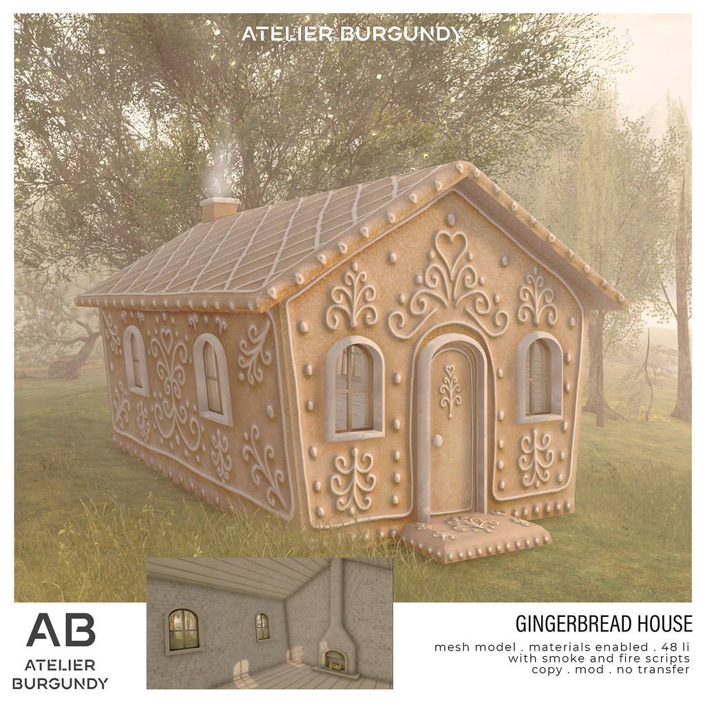 Atelier Burgundy . Gingerbread House Ad