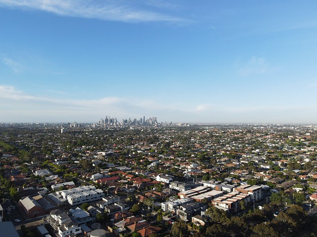Melbourne skyline in the early morning