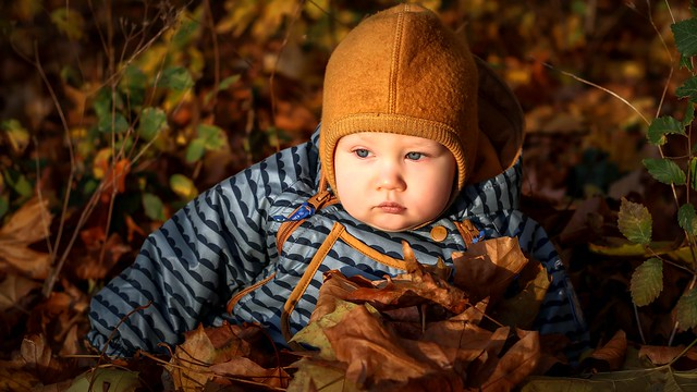 baby child autumn thoughts...