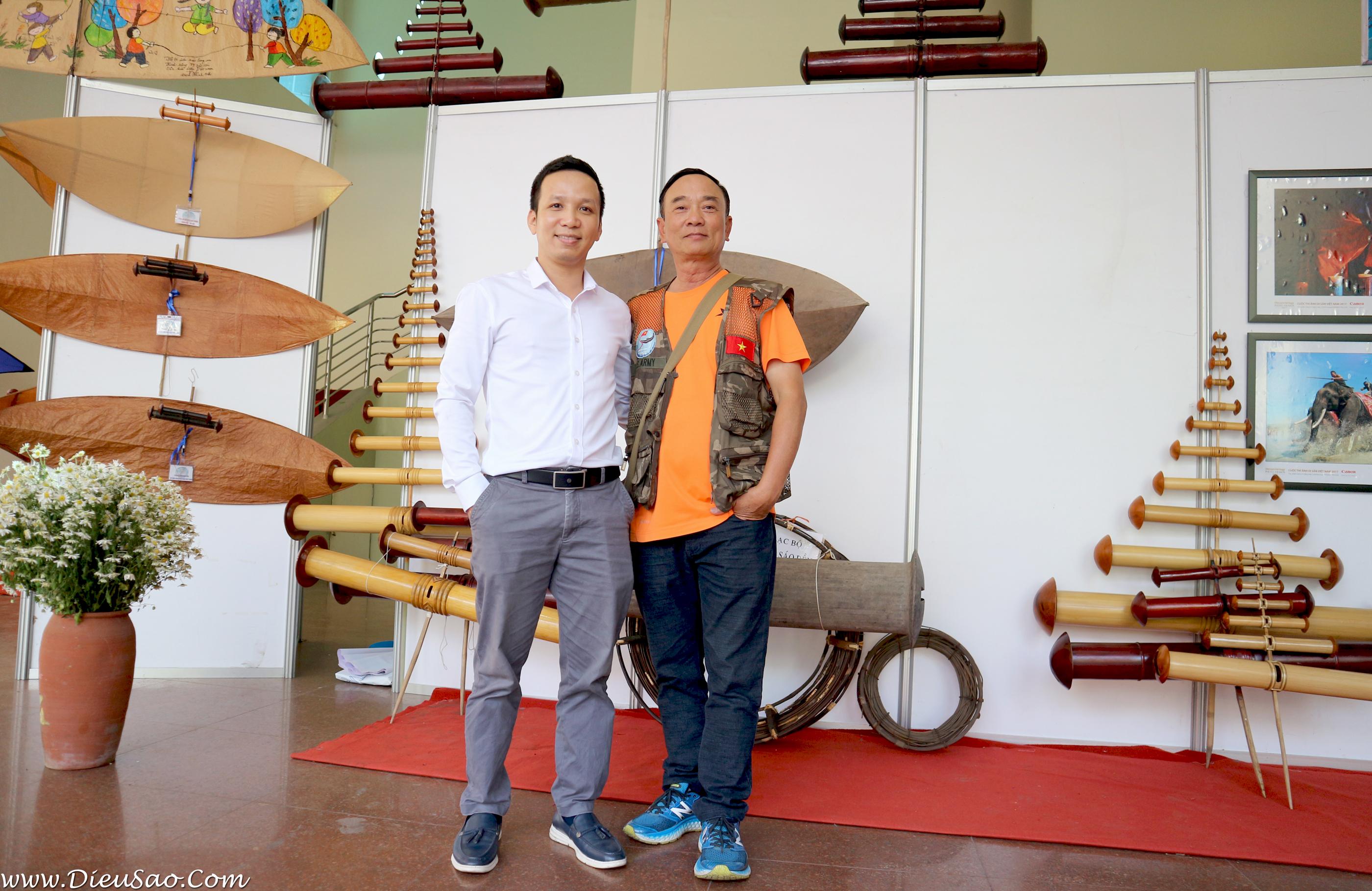 Hoang Phu va Hoang Van Diep tai Trien lam Canh dieu di san 2020