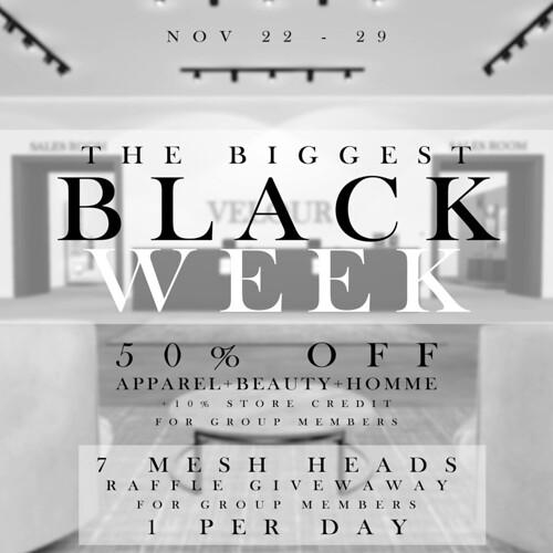 VELOUR - THE BIGGEST BLACK WEEK!