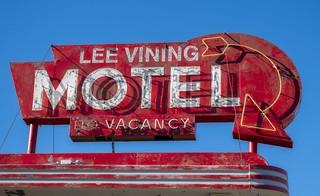 Lee Vining Motel Sign