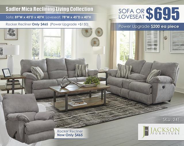 Sadler Mica Reclining Living Collection_241