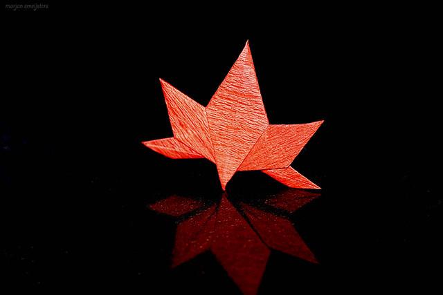 Origami Japanese Maple Leaf (Satoshi Kamiya)
